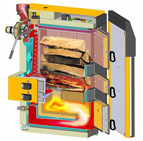 Samr e chauf chauffage installation d pannage for Chaudiere au bois exterieur